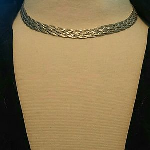 Jewelry - Vintage Sterling Silver 6 Strand Woven Necklace